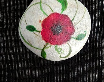 Remembrance Day Rock Painting